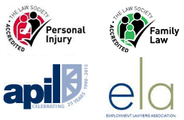 PI, Family Law, APIL, ELA logos